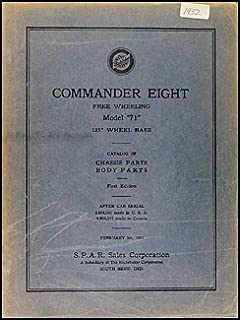 1932 Studebaker Commander 8 Parts Book Original