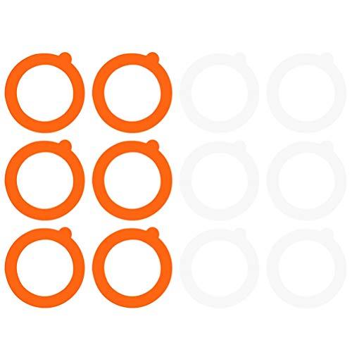 Cabilock 12 Piezas Anillos de Sellos a Prueba de Fugas Frasco Profesional para Enlatado Juntas de Silicona Anillos de Repuesto Sellos de Ajuste de Enlatado para La Tienda del Hogar