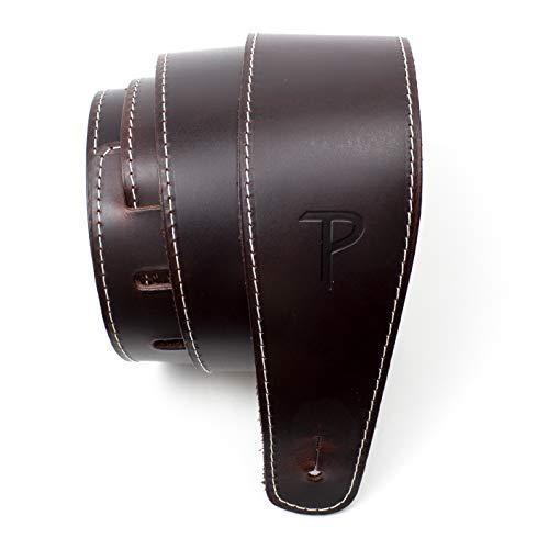 Perri's Leathers Ltd. - Correa de guitarra - Cuero de béisbol (serie) - Vino - Ajustable - Para guitarras acústicas/bajas/eléctricas - Fabricada en Canadá (SP25S-7053)