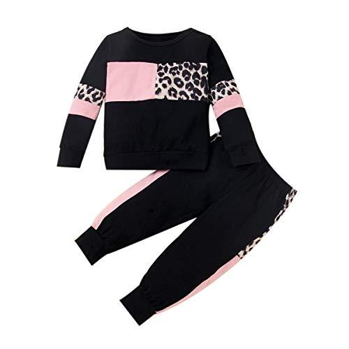 ZOEREA Conjunto de Ropa de Bebé Niña Moda Manga Sudadera Tops + Pantalones Leopardo Recién Nacido Niñas Otoño Primavera Trajes 2 Piezas