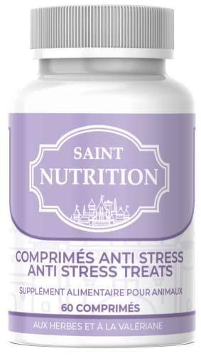 Saint Nutrition Comprimés Anti Stress Chien & Chat – calmant Naturel et végétal pour Chiens et Chats anxieux – réduit Le Stress grâce à la valériane – décontractant Contre Panique