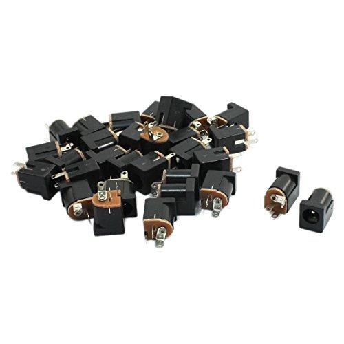 TOOGOO(R) 30pzs 2.1x5.5mm hembra Conector Enchufe jack e fuente de alimentacion DC para PCB