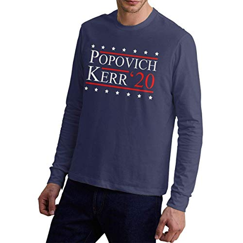 Popovich Kerr 2020 Cotton Long Sleeve Shirt Navy,Navy,X-Large