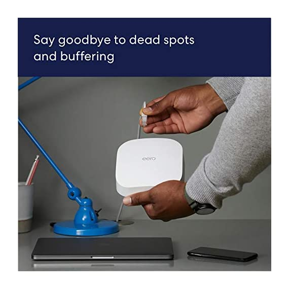 Introducing Amazon eero Pro 6 tri-band mesh Wi-Fi 6 system with built-in Zigbee smart home hub (3-pack) 2 Introducing the fastest eero ever - eero Pro 6 covers up to 2,000 sq. ft. with wifi speeds up to a gigabit. Say goodbye to dead spots and buffering - Our TrueMesh technology intelligently routes traffic to reduce drop-offs so you can confidently stream 4K video, game, and video conference. More wifi for more devices - Wi-Fi 6 delivers faster wifi with support for 75+ devices simultaneously.