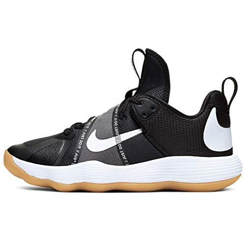 Nike Women's React Hyperset Volleyball Shoes (Black/White, Numeric_11)