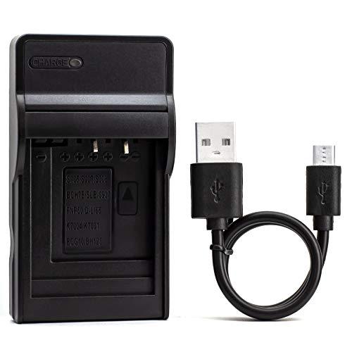 KLIC-7004 USB Cargador para Kodak EasyShare M1033, M1093 IS, V1073, V1233, V1253, V1273, PlayFull Dual Zi12, PLAYSPORT, PLAYTOUCH, Zi8, Zx3 Cámara y Más