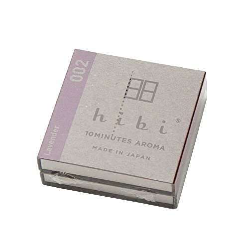 線香・お香・hibi レギュラーボックス 専用マット付き(ラベンダー)