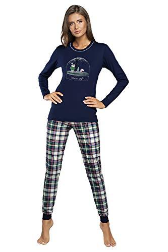 Pyjama pour femme automne hiver 2020 - Bleu - M