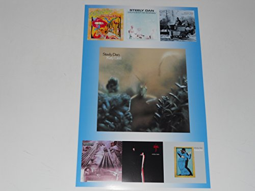 Cleveland Vinyl Large Steely Dan Album Cover Poster 1972-1980 Gaucho, Aja, Preztel Logic 19' by 13'