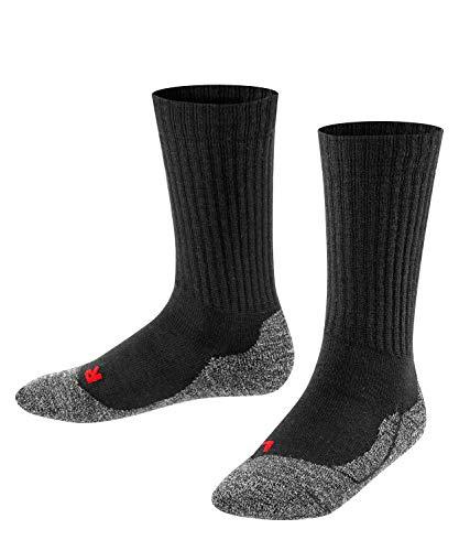 Falke Unisex Kinder Socken, Active Warm K SO -10495, Schwarz (Black 3000), 27-30