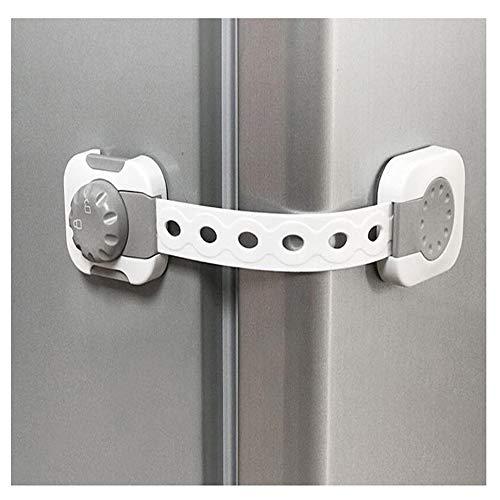YUMEIGE Veiligheidssloten Veiligheidssloten, ABS, draai de knop 90 ° naar Unlock, Veiligheidssloten, instelbare lengte, Bend Vrij, Veiligheidssloten, for koelkasten Drawers Kasten
