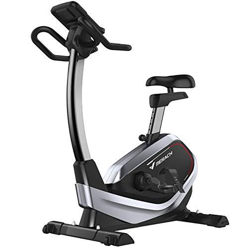 HHH Ciclismo de Interior Bicicleta Súper Silenciosa con Bike Estacionaria Bicycle Gimnasio Cardio Entrenamiento 8 Velocidad Control Magnético Bicicleta Ejercicio