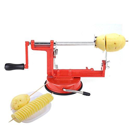 Cortadora de Patata torcida, Hoja Manual Cortadora de Patata Espiral Pepino Tornado Twister Cutter Vegetales Chips de Fruta Herramienta de fabricación de Acero Inoxidable