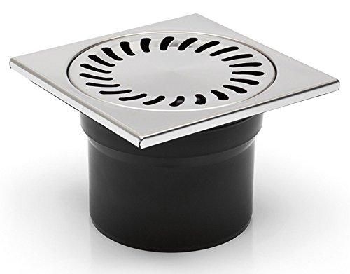 Bodenablauf - Duschablauf 150x150mm - DN 100 -incl. Geruchsverschluß und Dichtungsmatte - (323 N+391/1)