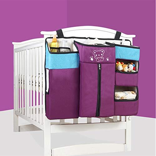 XGZ Hangende organizer voor de kinderkamer, slaapkamer, multifunctionele organizer voor de kinderkamer, nachtkastje, hangtas, opbergtas lila