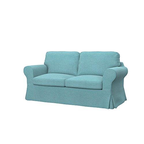 Soferia - Ikea EKTORP Fodera per Divano Letto a 2 posti, Glam Sky Blue