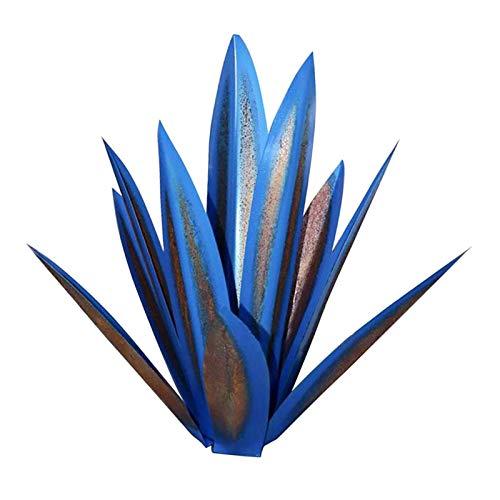 Yuxinkang Escultura Rústica De Tequila, Planta De Agave De Metal Rústico Pintado A Mano, Escultura De Planta Artificial De Bricolaje, Estatuas De Plantas De Tequila De Jardín, Adornos