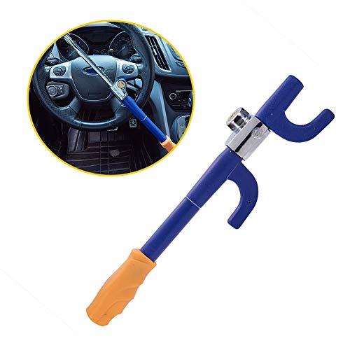 Blueshyhall Anti Theft Device Car Steering Wheel Lock Antitheft Lock Security Lock, Blue and Yellow