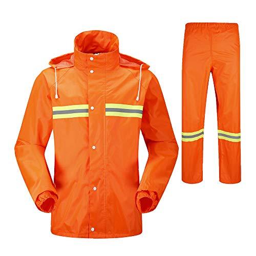ZKDY Traje De Pantalón Impermeable Reflectante De Saneamiento, Administración De Carreteras, Protección Contra Incendios, Limpiadores De Construcción De Ca