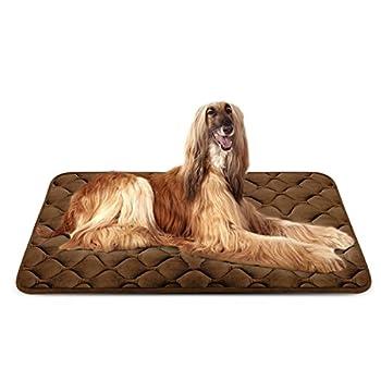 Panier Doux pour Chien, Lit Coussin de Luxe et Durable 120x85 cm, Tapis Antidérapant et Lavable de Chien Hero Dog (Brun, XL)