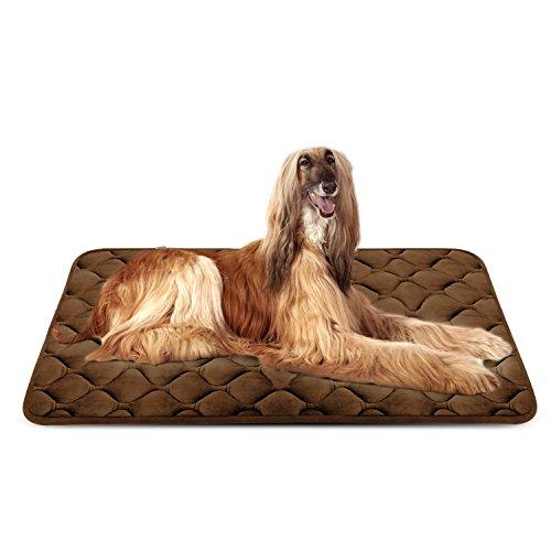 Weiche Hundebett Große Hunde Luxuriöse Hundedecken Waschbar Strapazierfähige Hundekissen Rutschfeste Hundematte Braun XL HeroDog