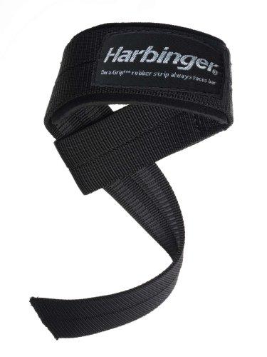 Harbinger 20500 Big Grip No-Slip Nylon Lifting Straps with DuraGrip (Pair), Padded