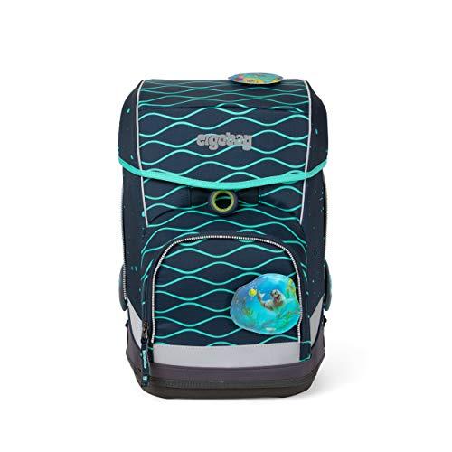 Preisvergleich Produktbild ergobag cubo light Set - ergonomischer Schulrucksack,  extra leicht,  Set 5-teilig,  780 g - BlubbBär - Blau