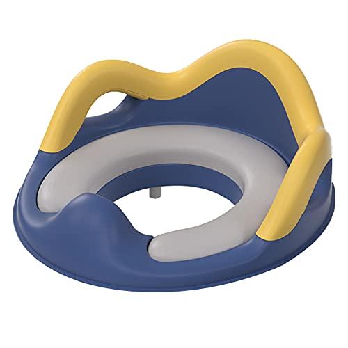 Orinal Bebe Adaptador WC NiñOs Formación de Asiento de Inodoro Asiento de Entrenamiento de Orinal de baño Bebé Aseo Entrenamiento de baño Blue,PU