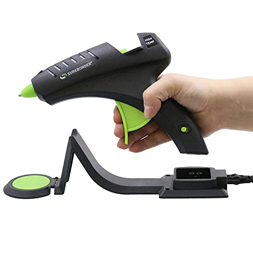 Surebonder Cordless Hot Glue Gun, High Temperature, Full Size, 60W, 50% More Power - Sturdily Bonds Metal, Wood, Ceramics, Leather & Other Strong Materials (Specialty Series CL-800F)