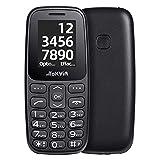 TOKVIA T101 Teléfono Móvil Libre Básico con Botón de Asistencia, Movil Pequeño y Ligero con Teclado
