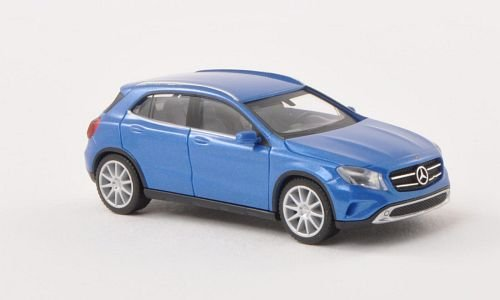 Mercedes GLA-Klasse (X156), met.-blau , Modellauto, Fertigmodell, Herpa 1:87