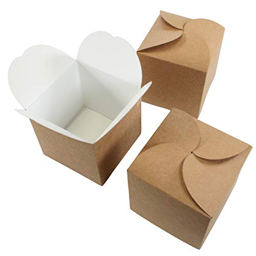 24er Set Geschenkboxen I Adventskalender-Boxen I Kraftpapier Do-it-yourself Falt-Schachtel I zum selber Basteln Befüllen Bemalen I kleine Gebäck verpackung für Weihnachten I dv_903