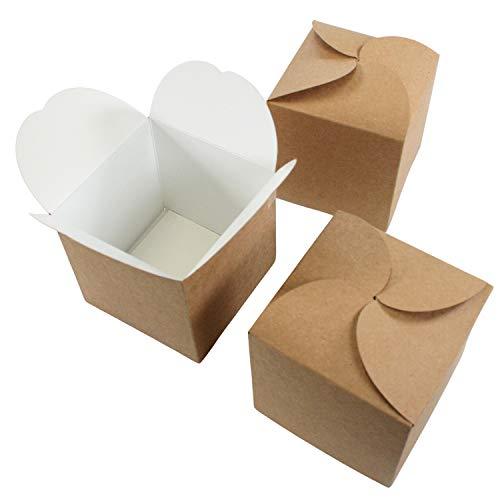 24er Set Geschenkboxen I Adventskalender-Boxen I Kraftpapier Do-it-yourself Falt-Schachtel I zum selber Basteln Befüllen Bemalen I kleine Gebäck verpackung für Weihnachten I dv_903