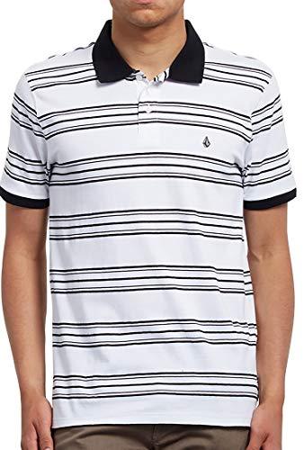 Volcom - Polo Wowzer Stripe - Herren Polo Hemd - Weiß