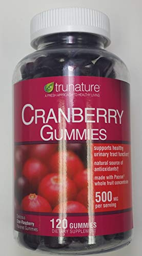 trunature Cranberry Gummies 500mg 120 Count