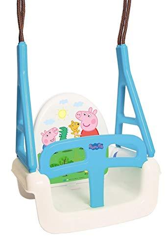 Babyschaukel 3 in 1 Original TegaBaby mit Peppa Wutz Peppa Pig Motiv Kinderschaukel Schaukelsitz bis 30kg TÜVRheinland geprüft, Blau