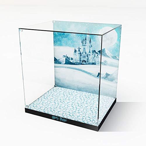 MAJOZ Caja expositora de acrílico para modelos, compatible con Lego Clock Tower 75948 (no incluye el modelo Lego), versión con diseño de hebilla de cristal.