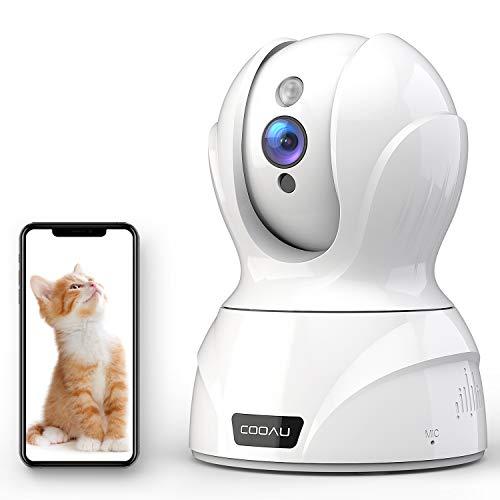 2020最新型500万画素COOAU ネットワークカメラ IP監視防犯 ペットカメラベビーモニター WiFiワイヤレス屋内カメラ 両方音声 自動フォロー 警報通知 遠隔スマホ操作 暗視撮影 動作検知 顔検知 音声検知 猫 犬 老人見守り スマホ iPad パソコン対応 技適認証済み 日本語アプリ対応 日本語説明書付き (白色)