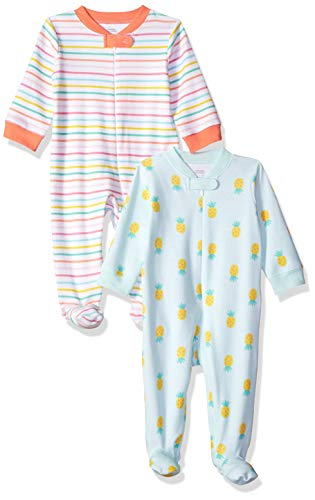 Amazon Essentials - Pack de 2 pijamas de niña para dormir y...
