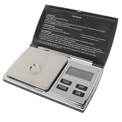Sadasda223 Laboratorio Báscula electrónica de Escala de Diamante Digital de 500 g / 0,1 g