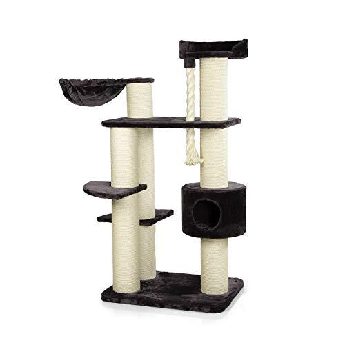 CanadianCat Company ®   Kratzbaum XXL Brockville für große Katzen   anthrazit   ca. 130 x 88 x 163 cm