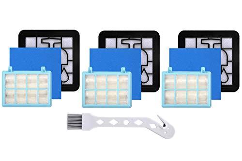 Leadaybetter Philips FC9331/09 - Juego de filtros de repuesto para aspiradora Philips FC8010/01, FC9331/09 FC9332/09, color azul y blanco