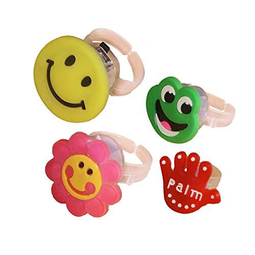 12st-Finger-Licht Bunten LED-Licht-Up Ring-Partei Gadgets Kinder Intelligent Toy Xmas Party Favor Spaß-Spielzeug-Geschenk