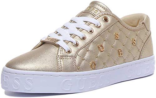 GUESS GLADISS Gold FL5GLA LEL12 Zapatillas para Mujer, 37
