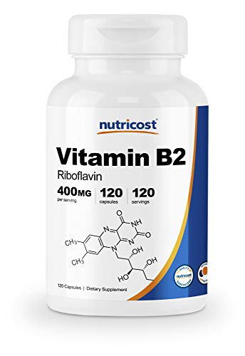 400mg of Premium Vitamin B2 (Riboflavin) Per Capsule 120 Capsules of Vitamin B2 Per Bottle Vitamin B2 is Known To Support Energy Production Non-GMO, Gluten Free, 3rd Party Tested Made In a GMP Compliant, FDA Registered Facility
