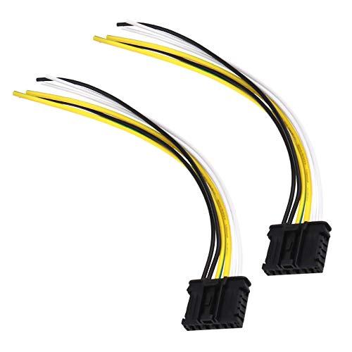 OTOTEC 2 Stücke 6 pin 20 cm Rücklicht Kabelsatz Rücklicht Kabelbaum 1606248780 Ersatzteile kompatibel mit 206 207 307 308