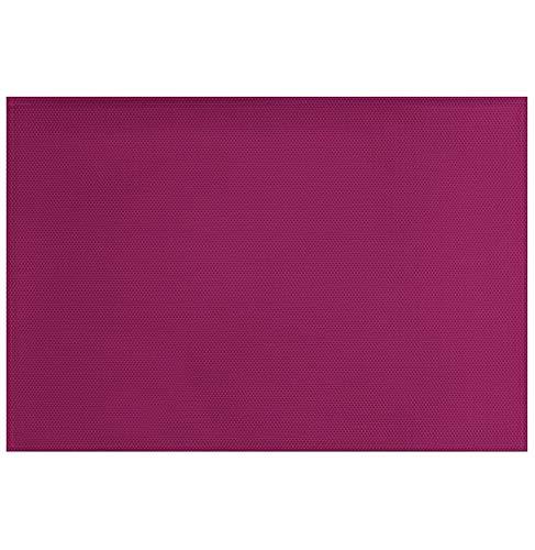 décorline set de table 32x47cm pvc silky prune