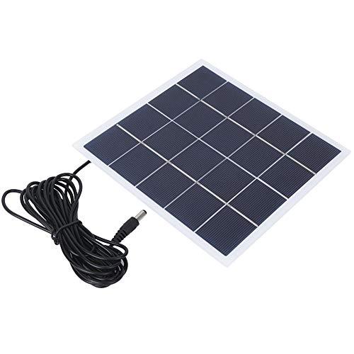 Vbest life Polykristall-Solarpanel, tragbare 4-W-5-V-Polykristall-Solarbatterie im Freien, laminierte Platine mit DC-Schnittstelle Aufladen der 3,7-V-Batterie verwenden