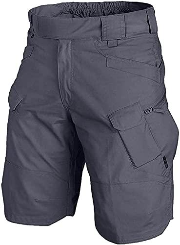 Pantalones cortos tácticos actualizados 2021, pantalones cortos tácticos urbanos/al aire libre, secado rápido, transpirable, gris-mediano