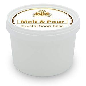 Base de Jabón 500g - Derretir & Verter Crystal ST - Jabón de Glicerina - Transparente - Jabón Hecho a Mano - Bonito regalo